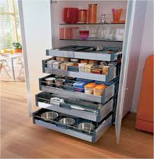 image of elegant and modern kitchen storage pantry cabinet