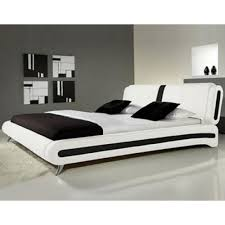 monza italia 105 4ft6 wht blk verona 5ft king size white with black faux leather bed