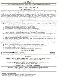 Resume Sample For Free Sample Medical Office Manager Resume Thrifdecorblog Com
