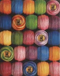 5 Balls Vog 8 Pearl Cotton Perle Embroidery Thread Choose
