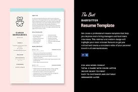 Babysitting Resume Templates Adorable Babysitter Resume Template Resume Templates Creative Market
