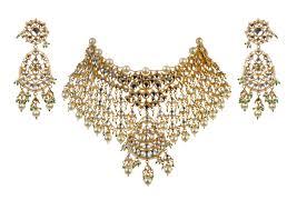 Gold Jadtar Set Design White Jadtar Stone Heavy Necklace Set Buy Online Fashion