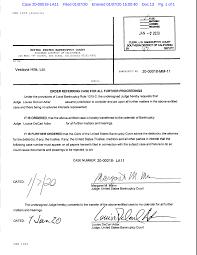 Case 20-00018-LA11 Filed 01/07/20 Entered 01/07/20 15:00:40 Doc 13 Pg. 1 of  1