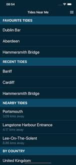 Tide Chart Widget Tides Near Me On The App Store