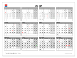 Calendario 2020 Ticino Michel Zbinden It