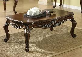 side tables traditional side table coffee in brown cherry finish by acme bedside tables uk