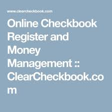 Online Checkbook Register Online Checkbook Register And Money Management