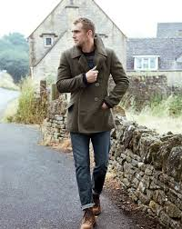 for an outfit that s very easy but can be dressed up or down in a myriad olive pea coat