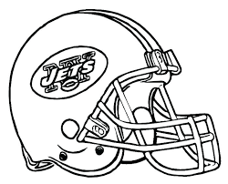 helmet logos coloring pages football nfl full size