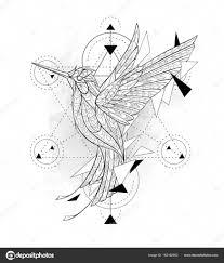 колибри геометрия узорные колибри с геометрией векторное
