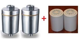 two pure bath 6 stage shower water filter system two bathtub filter system