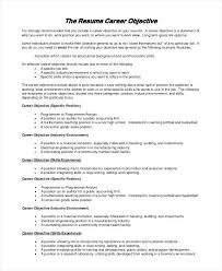 Effective Career Objective For Resumes Objectives Resume Socialum Co