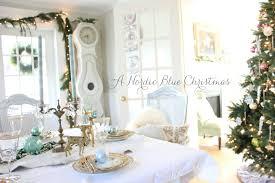 Maison Decor: A Nordic Blue Christmas Tablescape