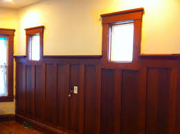 Dining Room Wainscoting Ideas Stained Wainscoting In Dining Rooms Door Entry From Foyer