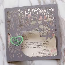 Elegant Invitation Cards Us 9 56 13 Off 50pcs Custom Love Story Tree Wedding Invitation Laser Cut Elegant Invitation Cards Modern Wedding Cards In Cards Invitations