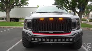Ford F150 Running Lights Xprite Raptor Style Grille With Led Running Lights For 2018 2019 Ford F 150 Installation