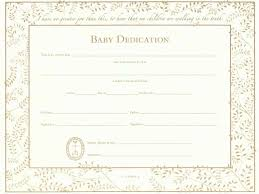 Baby Dedication Certificates Templates Baby Dedication Certificate Template Business 2