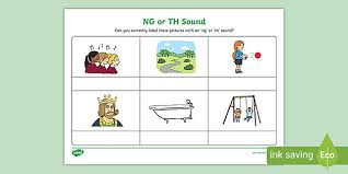 The two sounds made by the th. Free Ng Or Th Sound Phonics Worksheet Ela Resource Twinkl