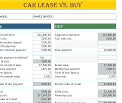 Lease Payment Calculator New Leasing Vs Buying Calculator Tomburmoorddinerco