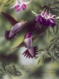 realistic oil painting of birds 8