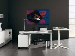 ultra minimalist office. Office:Ultra Modern Home Office Under Stair With Floating Desk And Wall  Mounted Bookshelves Dark Ultra Minimalist Office C
