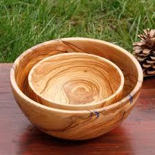 2 wooden salad bowls