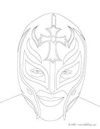 Wwe Rey Mysterio Mask Coloring Pages Mask Coloring Pages Coloring