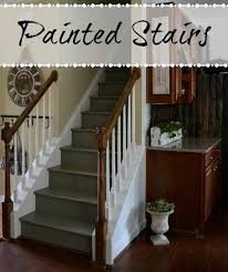 Painted Stairs Down To Earth Style Painted Stairs