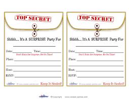 Birthday Invitations Printable Printable Surprise Party Invitations Under Fontanacountryinn Com