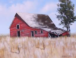 old red barn acrylic painting lesson