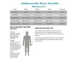 Ashworth Golf Size Chart Ashworth All Womens Golf Outerwear 2nd Swing Golf