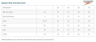 Speedo Size Conversion Chart 46 Specific Speedo Endurance Size Chart