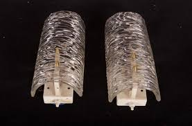 textured glass wall sconces by j t kalmar set of  for sale at