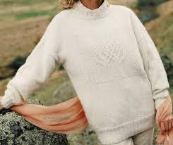 Ladies Tree Of Life Sweater With Round Neck And Drop Shoulders Vintage Knitting Pattern Pdf Digital Download A698