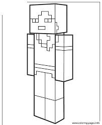 Alex From Minecraft Coloring Pages Printable