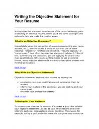 Objective Statements For Resumes Objective Statement Resume Resumes General Examples Mba Sample 96