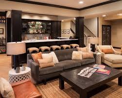 basement bar furniture. inspiration for a large transitional underground light wood floor and beige basement remodel in minneapolis bar furniture