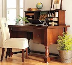 home office decorating ideas nifty. Rectangle Brown Wooden Office Table With Rack And Storages Added By White Fabric Chair On The Floor Home Decorating Ideas Nifty E
