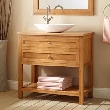 Narrow Depth Base Cabinets Bathroom 36 Narrow Depth Thayer Bamboo Vessel Sink Console