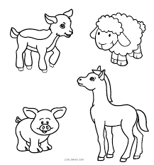 Printable Farm Animals Coloring Pages Kids Animal Directory
