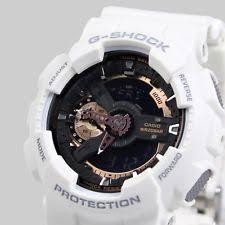 mens g shock watch new casio mens g shock white rose gold watch xl ga 110rg