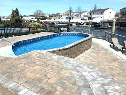 semi inground pool cost. Semi Inground Pool Cost Costs Radiant Installation Near Me