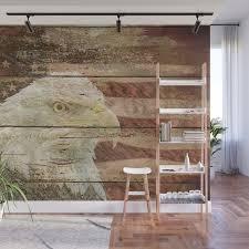 rustic bald eagle bird american flag