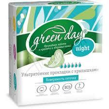 <b>green day прокладки</b> женские 7 шт ultra night dry, купить в ...