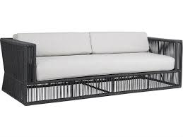 sunset west milano woven acrylic rope sofa in echo ash 4101 23 57005