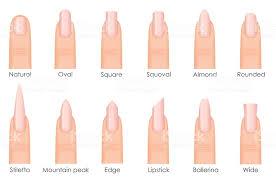 Fake Nail Type Chart Nail Shape Chart Acrylic Nail Lengths Nail Shapes 2019 Chart