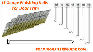 what size nails for door trim
