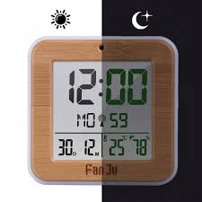 fanju fj3533 multifunction digital alarm clock with temperature and humidity dual alarm battery operated backlight snooze