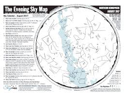 Monthly Sky Chart Decatur Area Astronomy Club Star Atlas