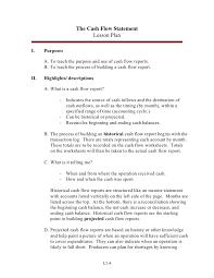 What Is A Cash Flow Report The Cash Flow Statement